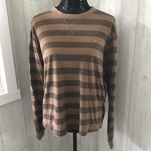 Brown Striped Hurley Shirt